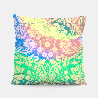 Thumbnail image of Hippie Fabric  Pillow, Live Heroes