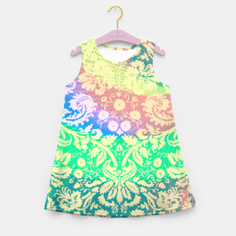 Thumbnail image of Hippie Fabric  Girl's summer dress, Live Heroes