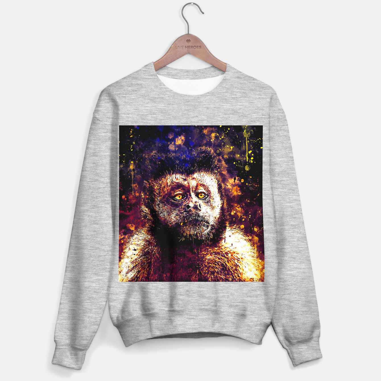 Image of bored monkey wsls Sweater regular - Live Heroes