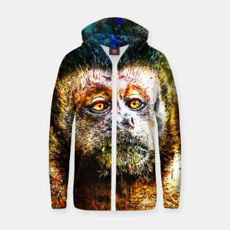 bored monkey wsstd Zip up hoodie thumbnail image