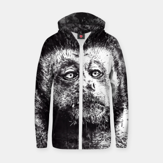 bored monkey wsbw Zip up hoodie thumbnail image
