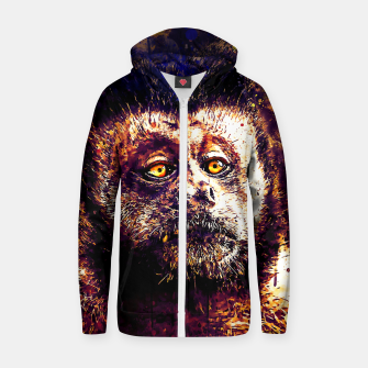 bored monkey wsls Zip up hoodie thumbnail image