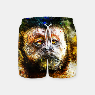 bored monkey wsstd Swim Shorts thumbnail image