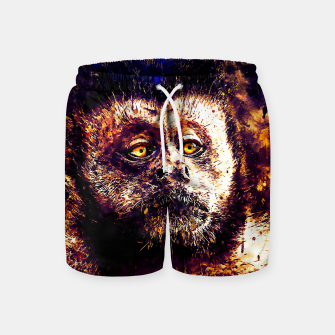 bored monkey wsls Swim Shorts thumbnail image