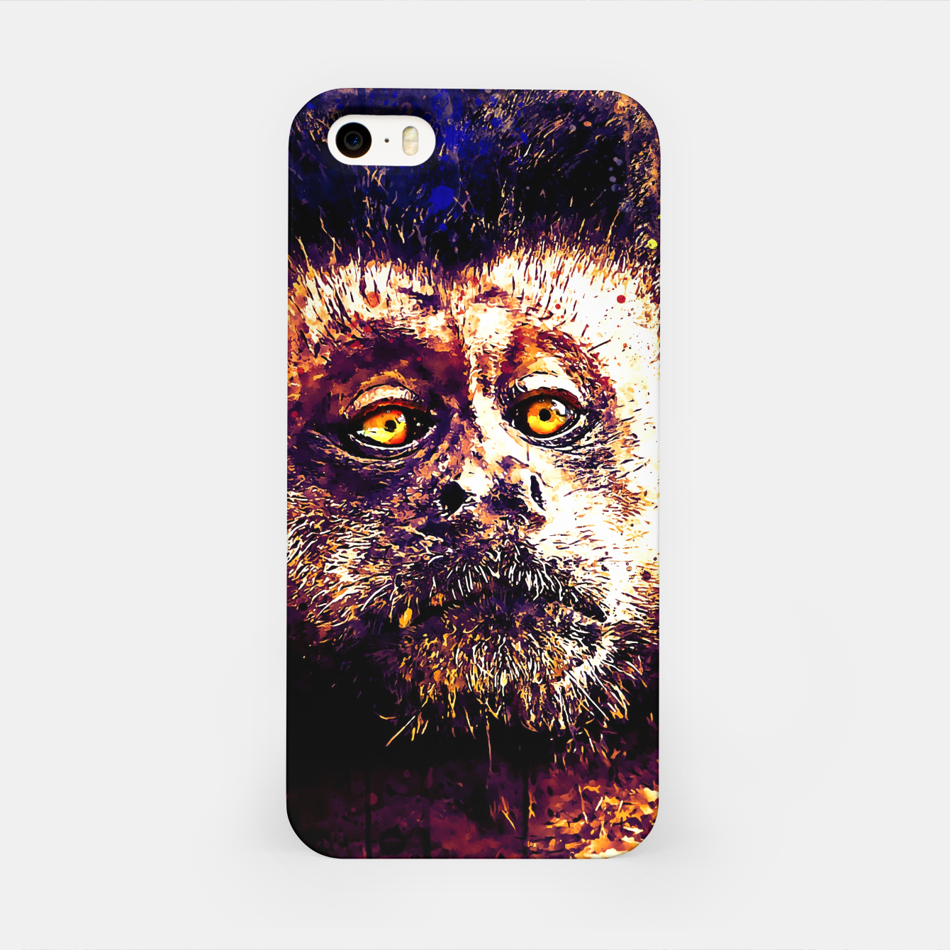 Image of bored monkey wsls iPhone Case - Live Heroes