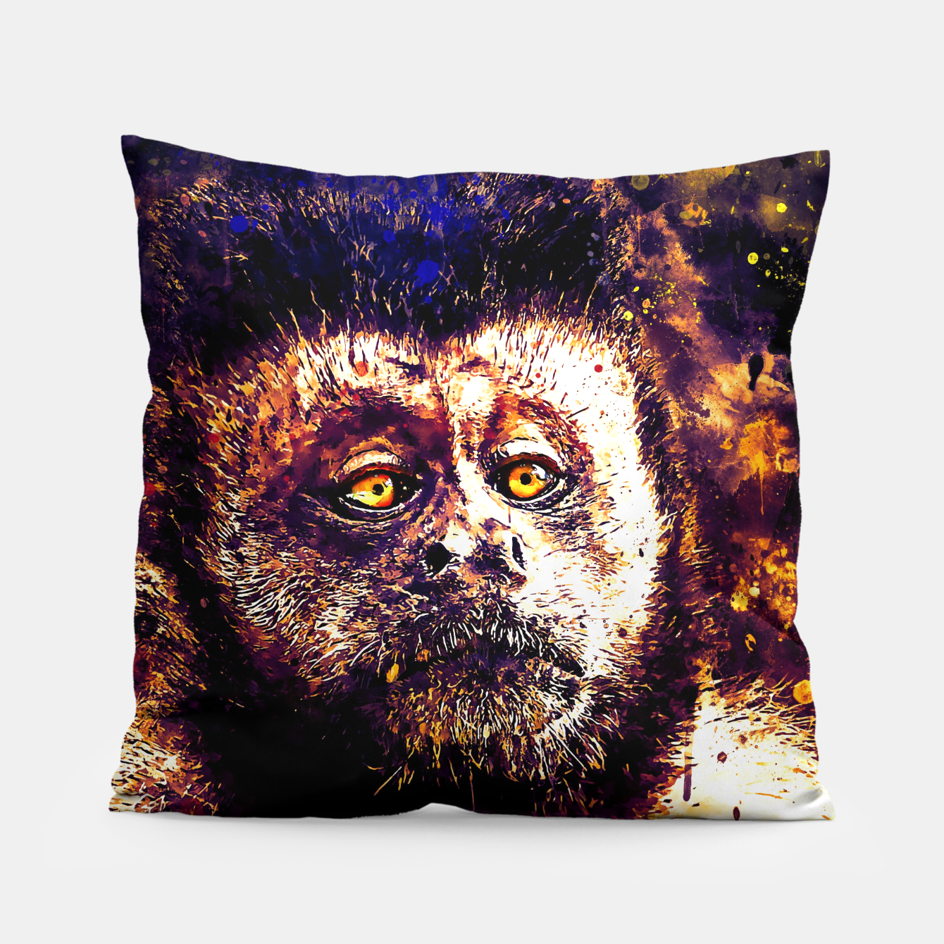 Image of bored monkey wsls Pillow - Live Heroes