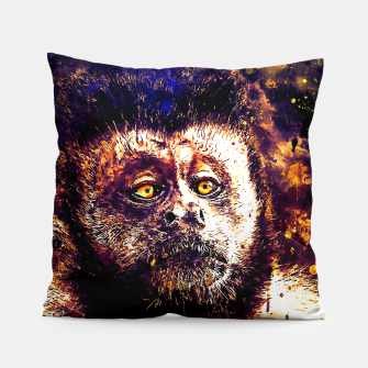 bored monkey wsls Pillow thumbnail image