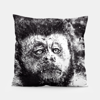 bored monkey wsbw Pillow thumbnail image