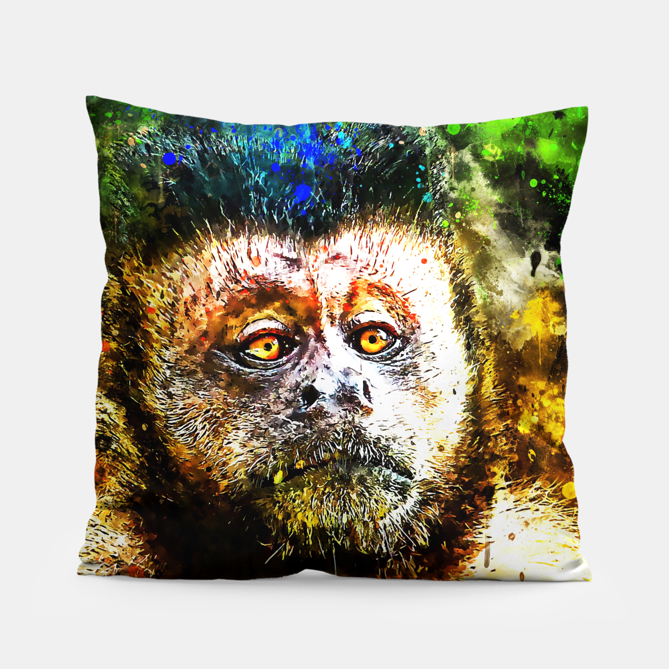 Image of bored monkey wsstd Pillow - Live Heroes