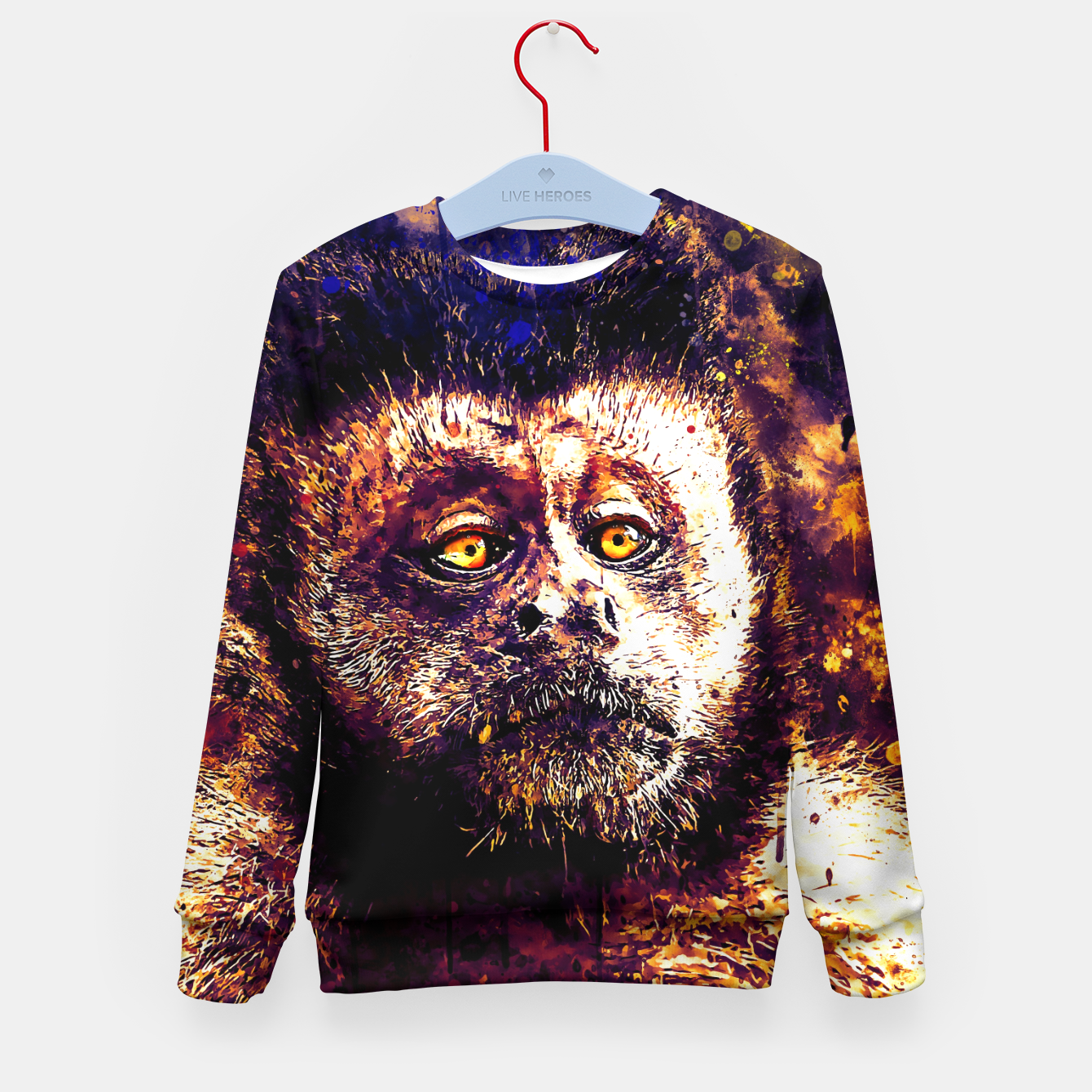 Image of bored monkey wsls Kid's sweater - Live Heroes