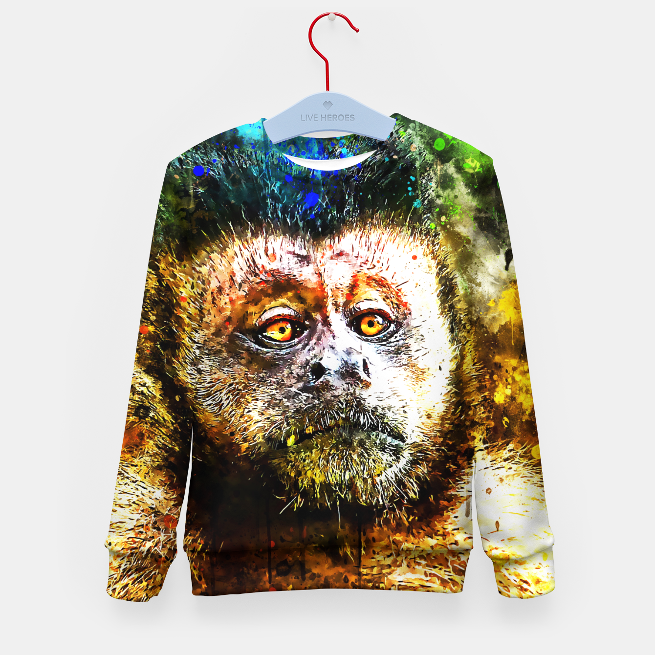 Image of bored monkey wsstd Kid's sweater - Live Heroes