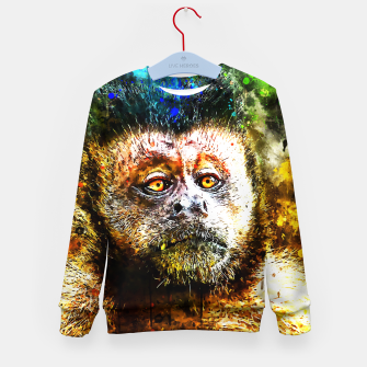 bored monkey wsstd Kid's sweater thumbnail image