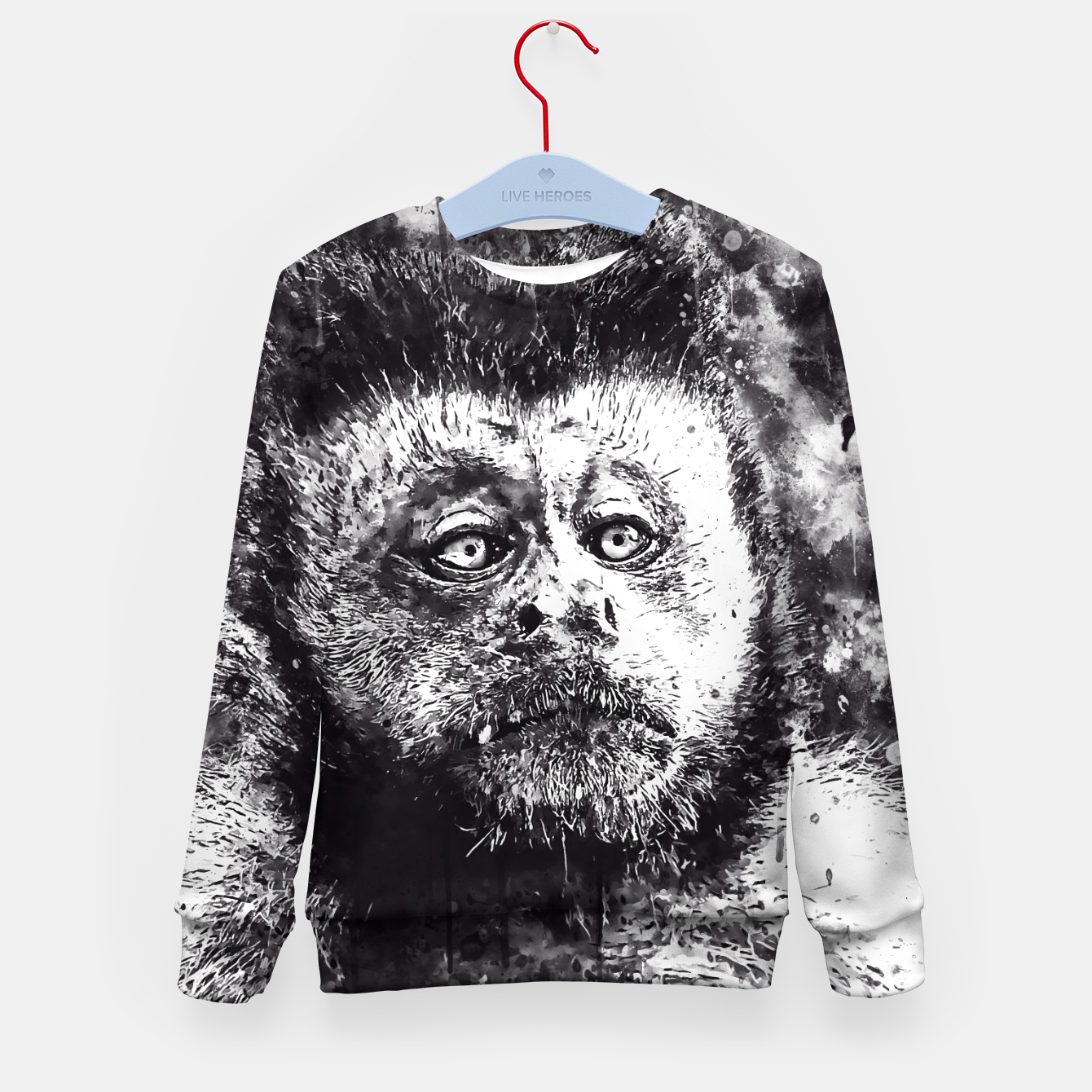 Image of bored monkey wsbw Kid's sweater - Live Heroes