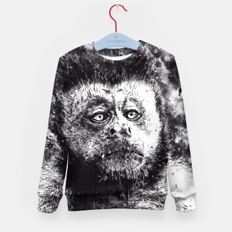 bored monkey wsbw Kid's sweater thumbnail image