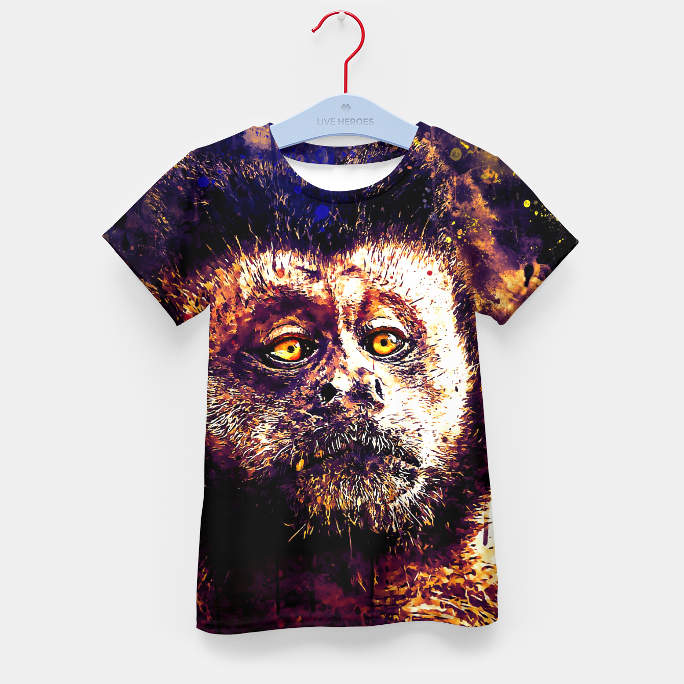 Image of bored monkey wsls Kid's t-shirt - Live Heroes