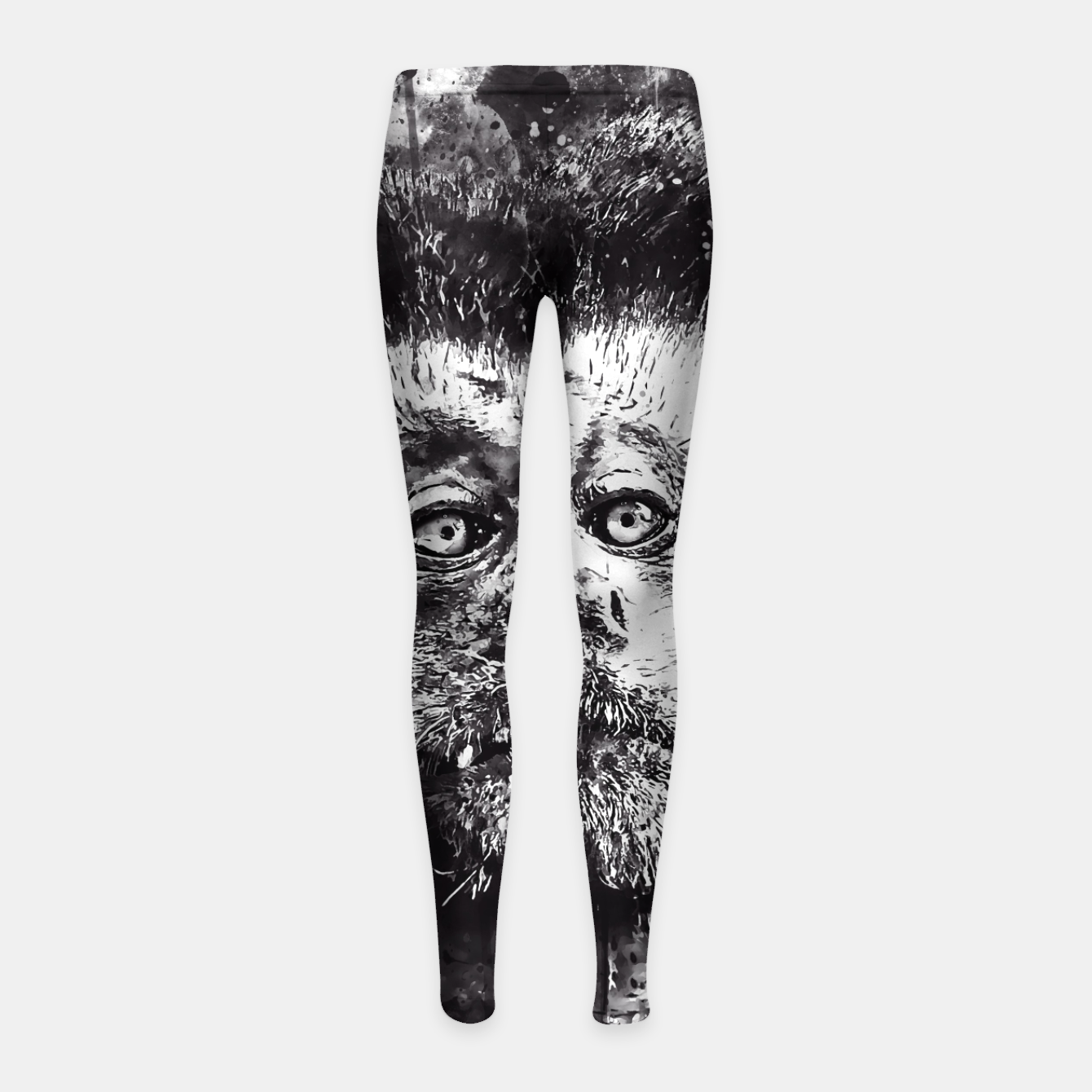 Image of bored monkey wsbw Girl's leggings - Live Heroes