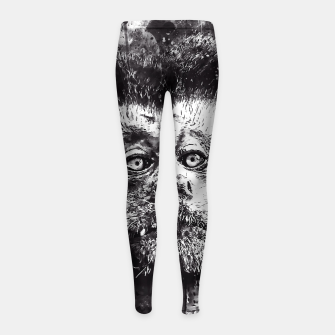 bored monkey wsbw Girl's leggings thumbnail image