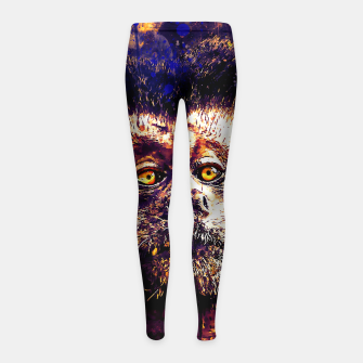 bored monkey wsls Girl's leggings thumbnail image