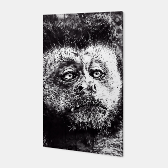 bored monkey wsbw Canvas thumbnail image