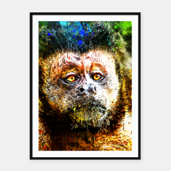 Thumbnail image of bored monkey wsstd Framed poster, Live Heroes