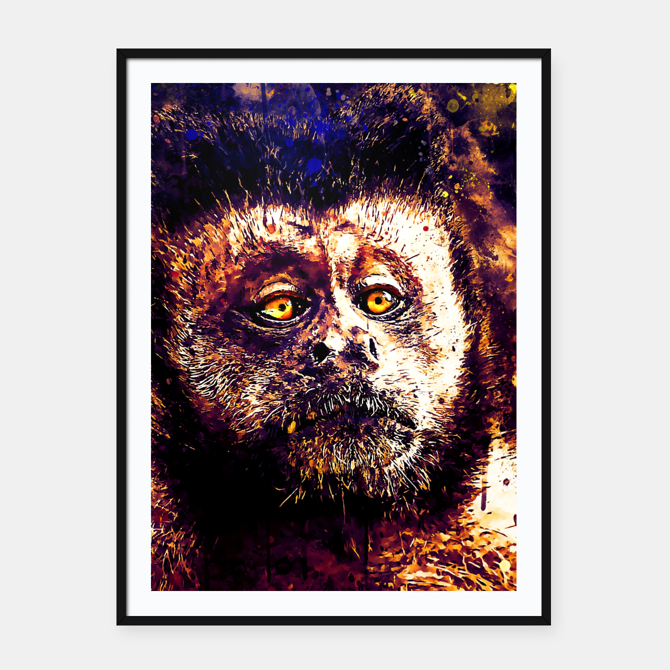 Image of bored monkey wsls Framed poster - Live Heroes