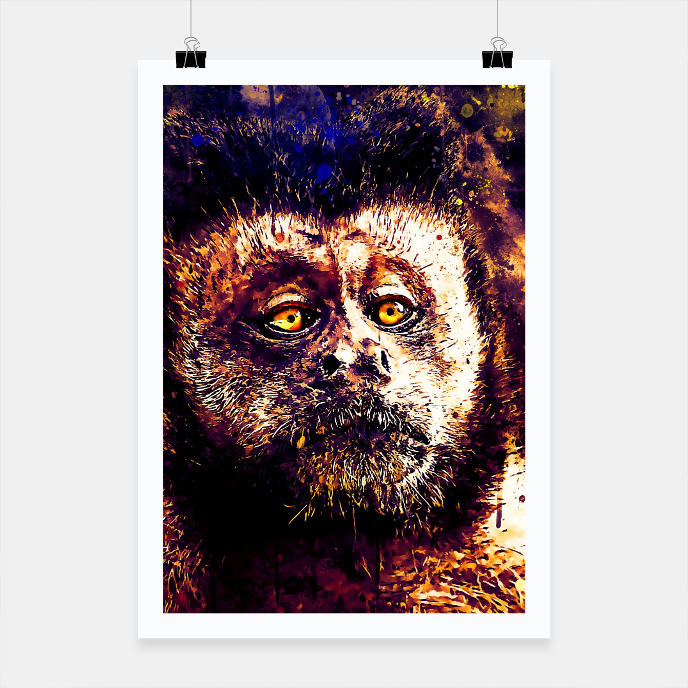Image of bored monkey wsls Poster - Live Heroes