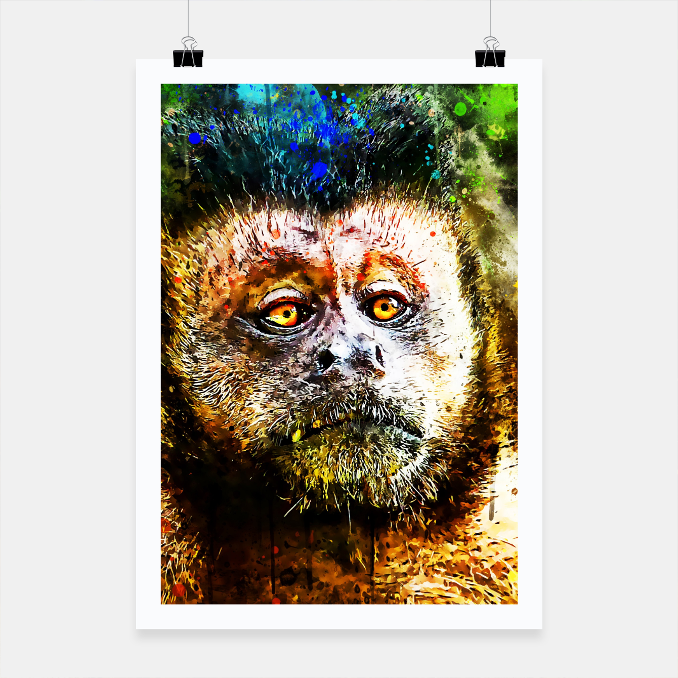 Image of bored monkey wsstd Poster - Live Heroes