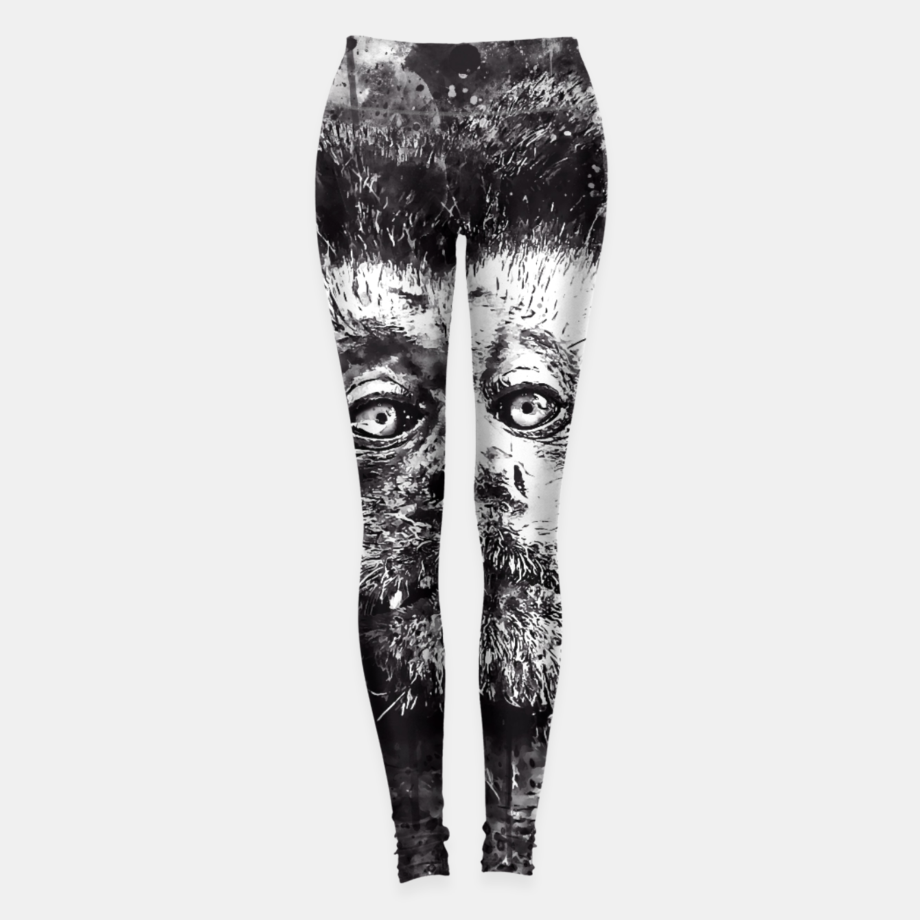 Image of bored monkey wsbw Leggings - Live Heroes