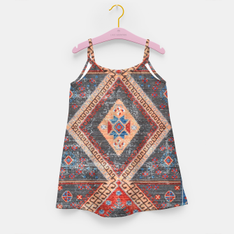 Imagen en miniatura de Oriental Moroccan Artwork Farmhouse Rustic Style Girl's dress, Live Heroes