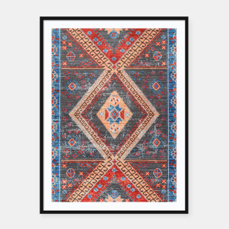 Miniatur Oriental Moroccan Artwork Farmhouse Rustic Style Framed poster, Live Heroes