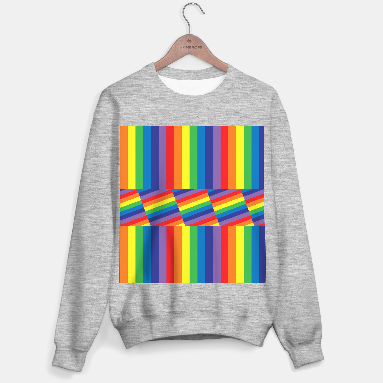 Image of Rainbow Sweater regular - Live Heroes