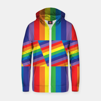 Thumbnail image of Rainbow Zip up hoodie, Live Heroes