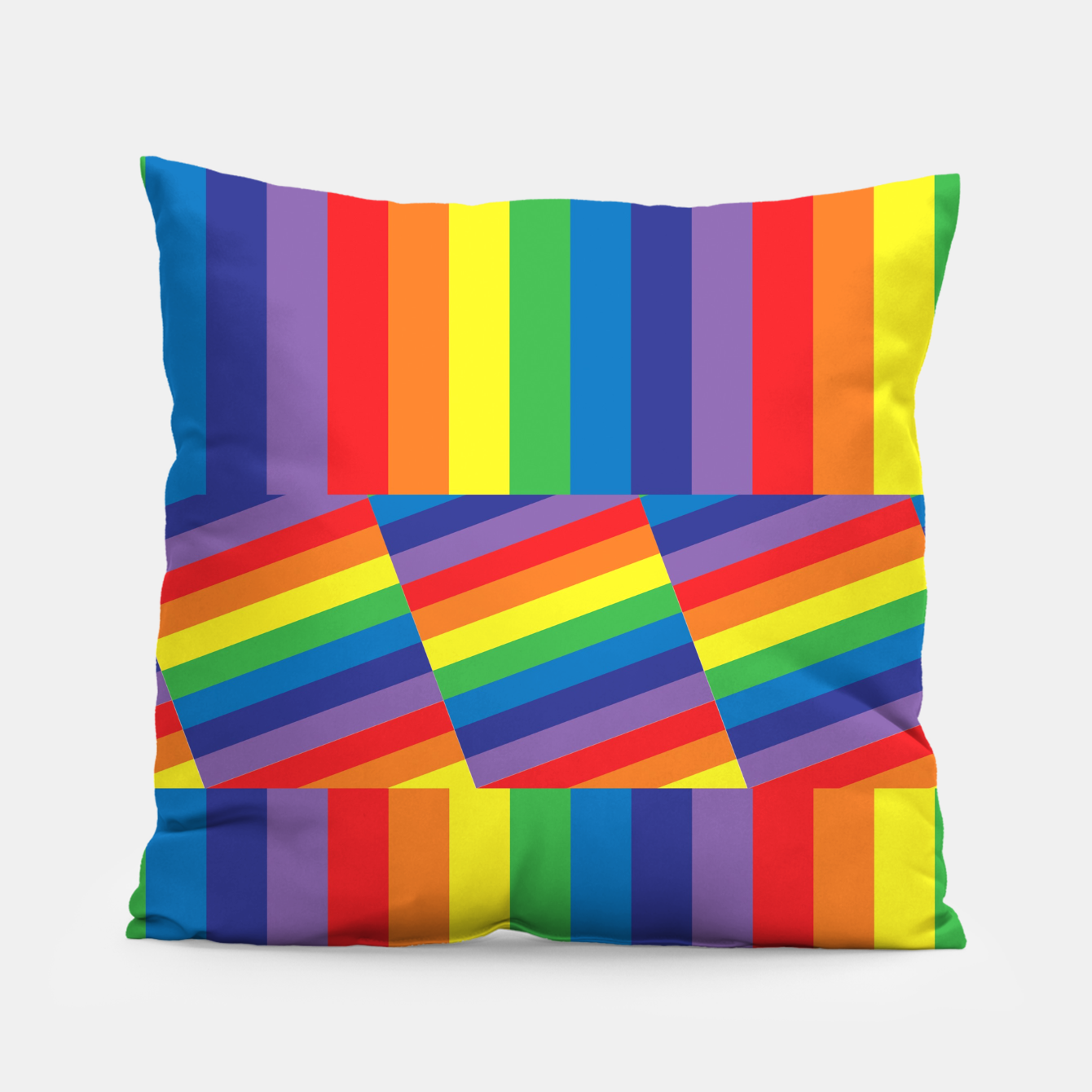 Image of Rainbow Pillow - Live Heroes