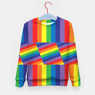 Thumbnail image of Rainbow Kid's sweater, Live Heroes