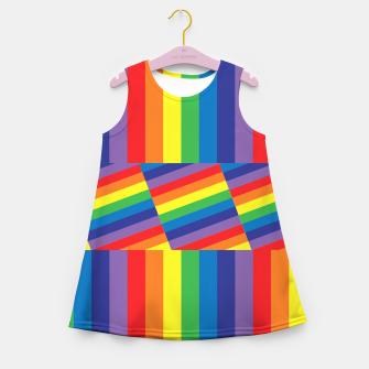 Thumbnail image of Rainbow Girl's summer dress, Live Heroes