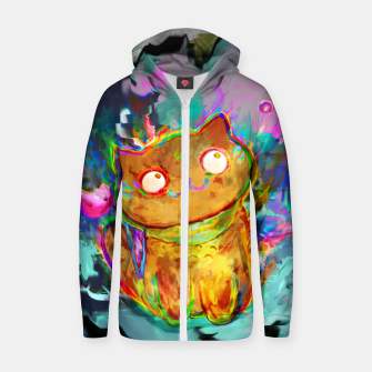 cat Zip up hoodie obraz miniatury