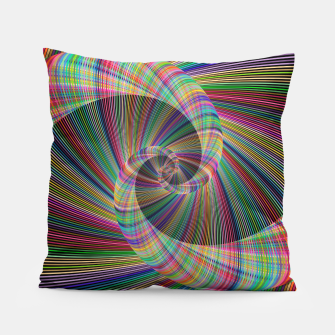 Thumbnail image of Colorful Spiral Pillow, Live Heroes