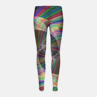 Miniatur Colorful Spiral Girl's leggings, Live Heroes