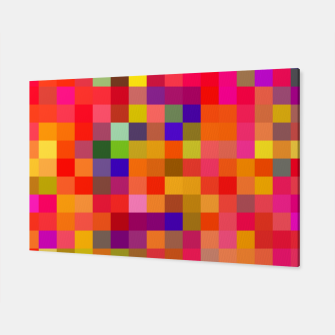 Imagen en miniatura de geometric square pixel pattern abstract in red pink yellow blue Canvas, Live Heroes