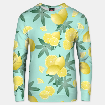 Lemon Twist Vibes #4 #tropical #fruit #decor #art  Unisex sweatshirt obraz miniatury