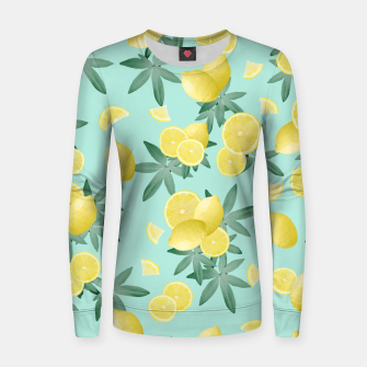 Lemon Twist Vibes #4 #tropical #fruit #decor #art  Frauen sweatshirt obraz miniatury