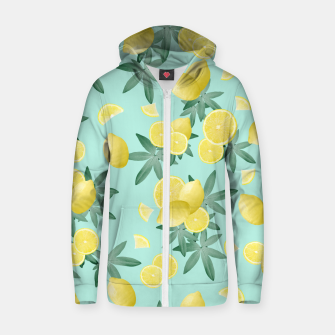Thumbnail image of Lemon Twist Vibes #4 #tropical #fruit #decor #art  Reißverschluss kapuzenpullover, Live Heroes