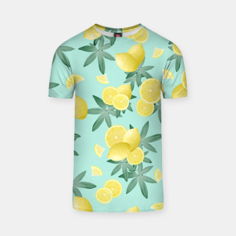 Lemon Twist Vibes #4 #tropical #fruit #decor #art  T-Shirt obraz miniatury