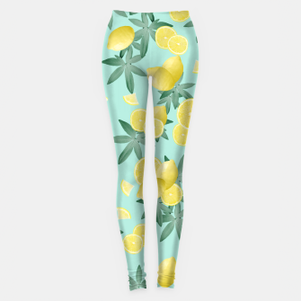 Thumbnail image of Lemon Twist Vibes #4 #tropical #fruit #decor #art  Leggings, Live Heroes