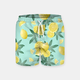 Lemon Twist Vibes #4 #tropical #fruit #decor #art  Badeshorts obraz miniatury