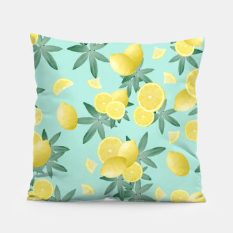 Thumbnail image of Lemon Twist Vibes #4 #tropical #fruit #decor #art  Kissen, Live Heroes