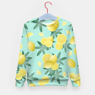 Lemon Twist Vibes #4 #tropical #fruit #decor #art  Kindersweatshirt obraz miniatury