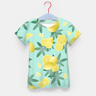 Lemon Twist Vibes #4 #tropical #fruit #decor #art  T-Shirt für kinder obraz miniatury