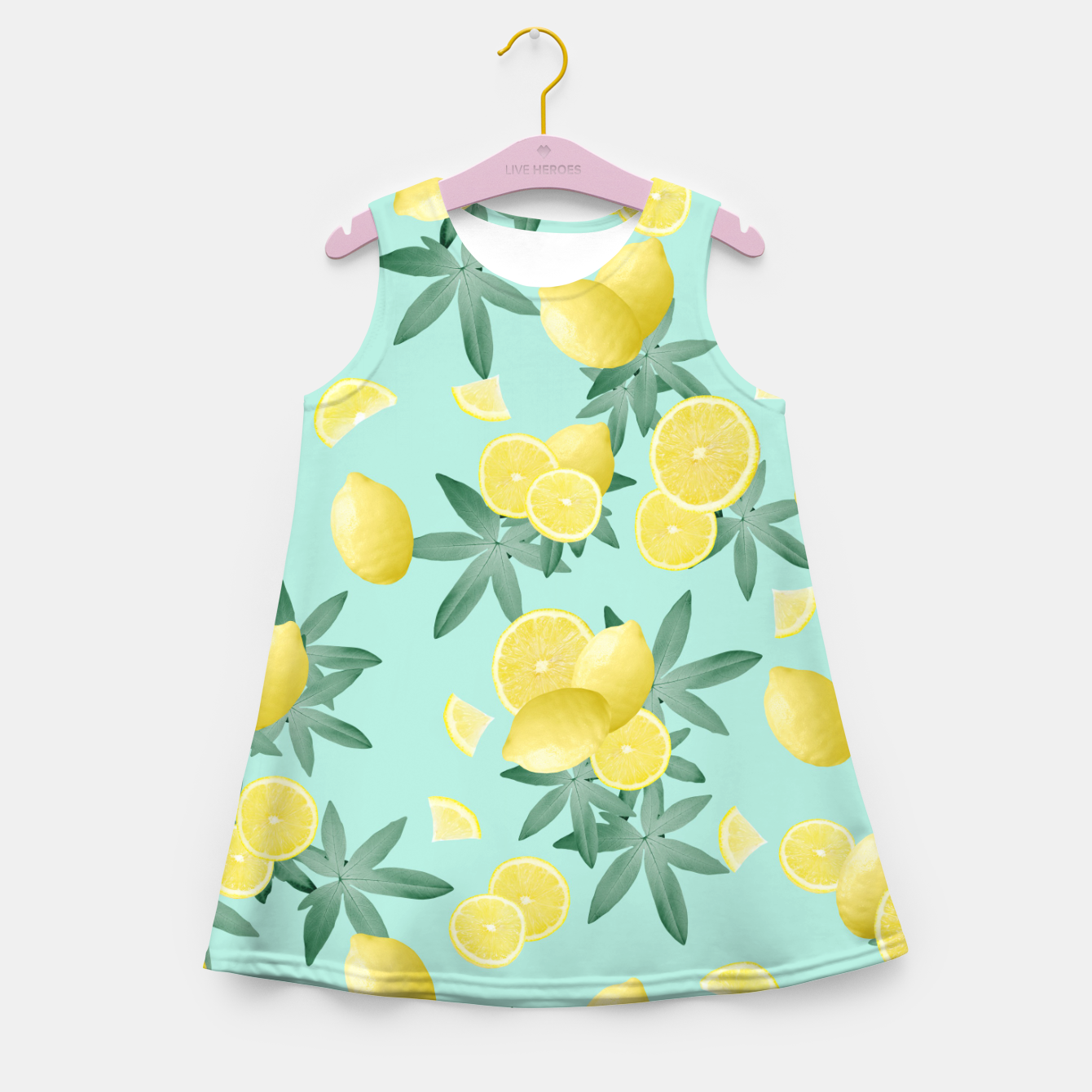 Zdjęcie Lemon Twist Vibes #4 #tropical #fruit #decor #art  Mädchen-Sommerkleid - Live Heroes
