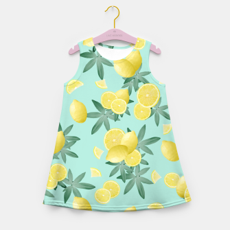 Miniaturka Lemon Twist Vibes #4 #tropical #fruit #decor #art  Mädchen-Sommerkleid, Live Heroes